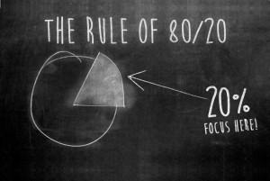 80% van je business komt van 20% van je klanten